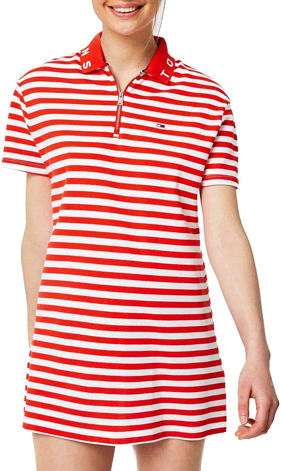 Tommy Jeans Robe Polo Essential RAYÉE: Amazon.