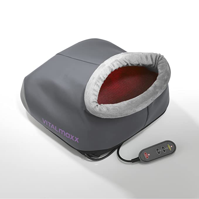 VITALmaxx Masajeador de Cuello y Hombros Básico   Masajeador Shiatsu Cervical con Rotación 3D con Calor   Contra la Tensión (masaje de pies)