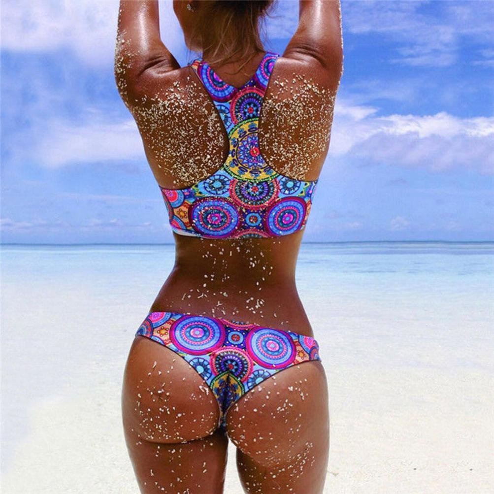 0e554c1ae 🎄🎄Bikini Bañadores Deportivas Mujer Conjunto de bikini sexy para mujer  Sujetador Push-Up acolchado con tirantes Beach Swimwear Playsuits  ❤️Xinantime  ...