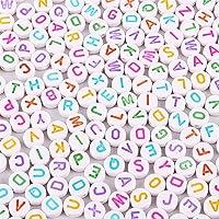 Wuderland 100st Child acryl platte kraal Alfabet Nummer Beads voor sieraden maken DIY Ketting Armband, Letter