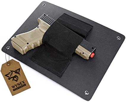 Amazon Com Wynex Pistol Holster Quick Access Handgun Holder Bedside Wall Mounted Tactical Gun Holster Under The Desk Pistol Fits Nearly Any Handgun Sports Outdoors