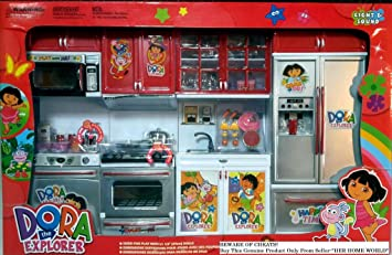 Buy Dora The Explorer 4 Station Beautiful Kitchen Set Online At Low Prices In India Amazon In