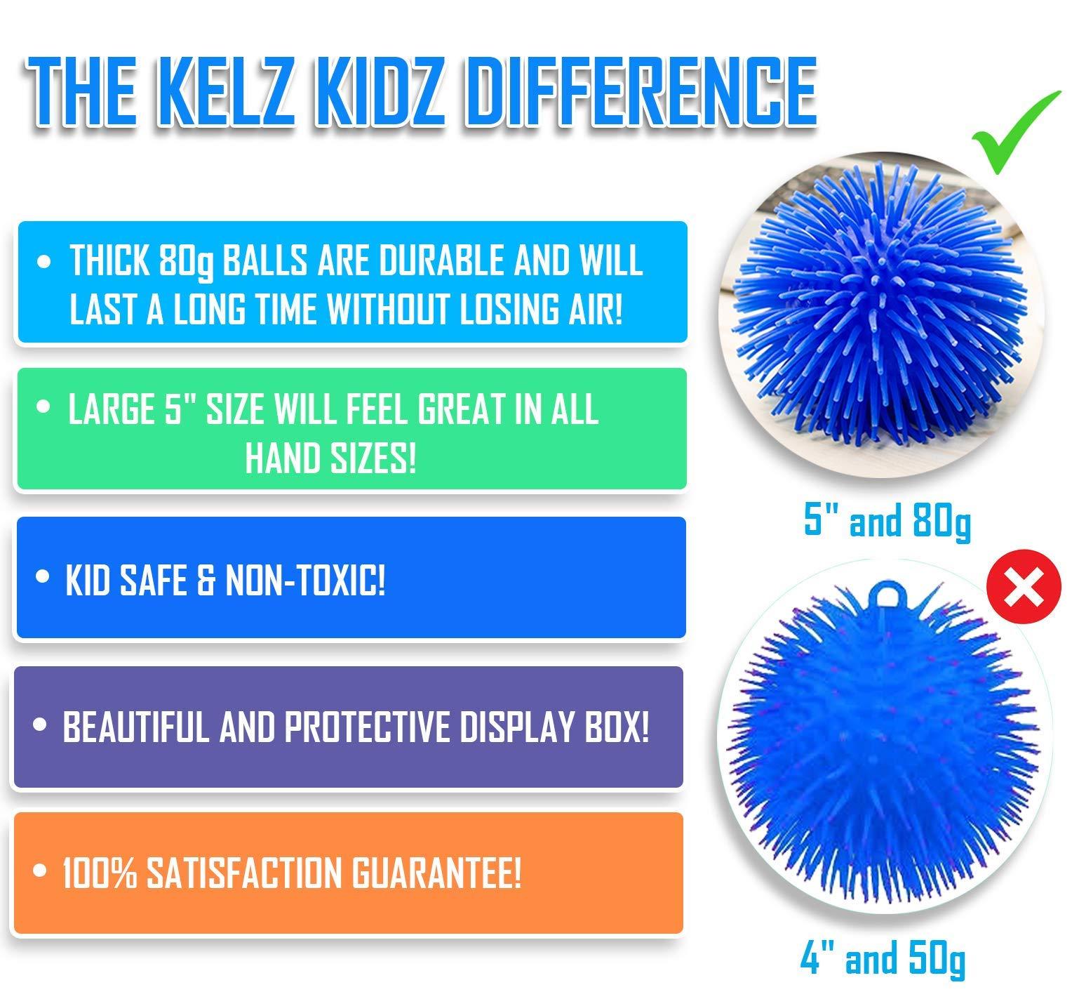 KELZ KIDZ Premium Quality Large & Thick Puffer Balls for Fun Kids Party (Set of 12) by KELZ KIDZ (Image #4)