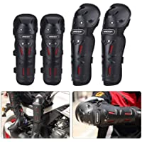 AllExtreme (BSDDP) 4 Set, Bike Knee Pads and Elbow Pads with Wrist Guards Protective Gear Set for Biking, Riding, Cycling and Multi Sports Safety Protection: Scooter, Skateboard, Bicycle, inline skatings