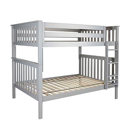 Amazon Com Plank Beam Solid Wood Bunk Bed Full Full Grey