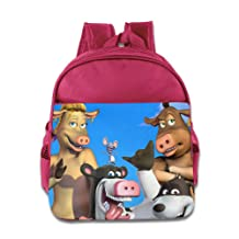 Toddler Kids Back At The Barnyard School Backpack Cool Children School Bag Pink