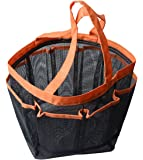 Sinland Mesh Shower Caddy, Quick Dry Shower Tote Bag Oxford Hanging Toiletry and Bath Organizer for Shampoo, Conditioner, Soap and Other Bathroom Accessories, Orange