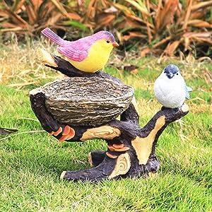 iRonrain Indoor Outdoor Ornament, Garden Nest Statue Art Décor Figurine for Room Desk Wall Closet