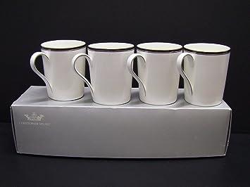 Christopher Stuart ROYAL BLACK Bone China Coffee Mugs. & Amazon.com   Christopher Stuart ROYAL BLACK Bone China Coffee Mugs ...