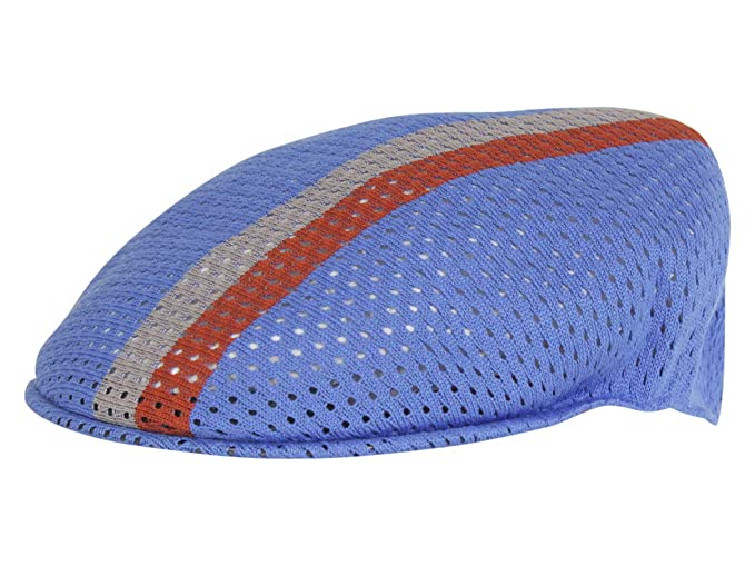 Kangol Gorra Plana 504 de Malla Stripe Múltples tonalides azuladas ...