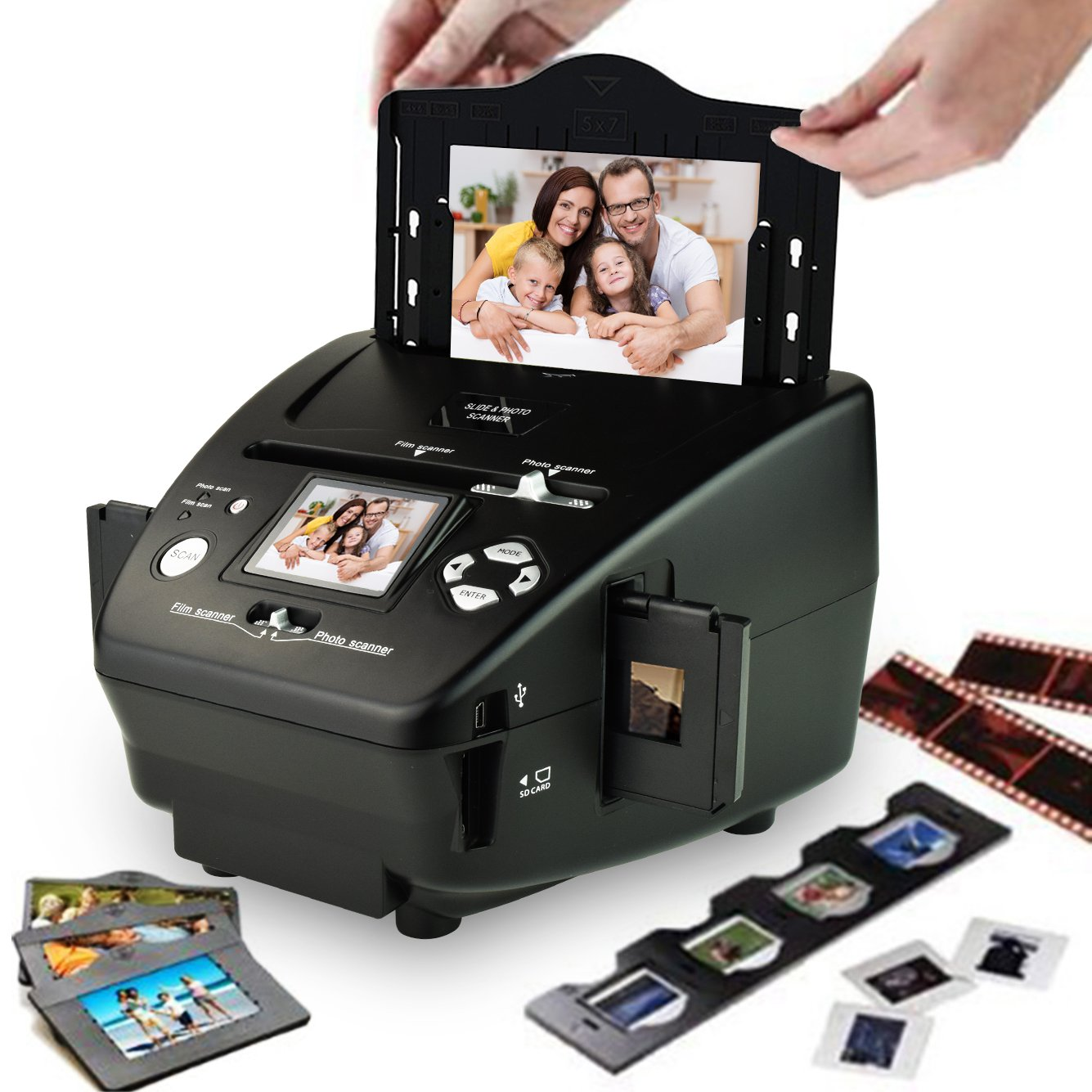 DIGITNOW 5M/10M 35mm Slides&Negatives Film Scanner Photo, Name Card, Slides and Negatives to Digital Converter for Saving Films to Digital Files in SD card(Included) with Photo Editing Software by DigitNow! (Image #2)