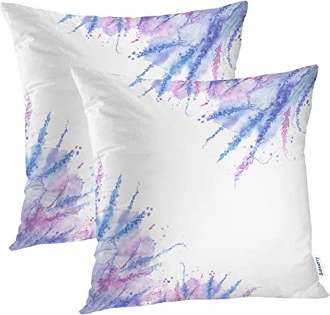 Small Purple Floral Décoration Car Sofa Pillow Case  Polyester Cushion Covers
