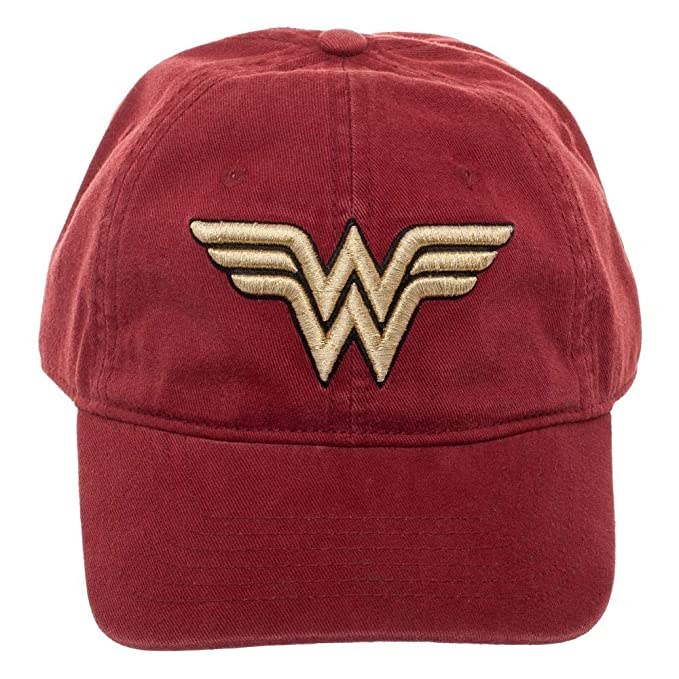6c98e26611689 Amazon.com  Red Wonder Woman Dad Hat Cateonic Wonder Woman Snapback Hat   Clothing