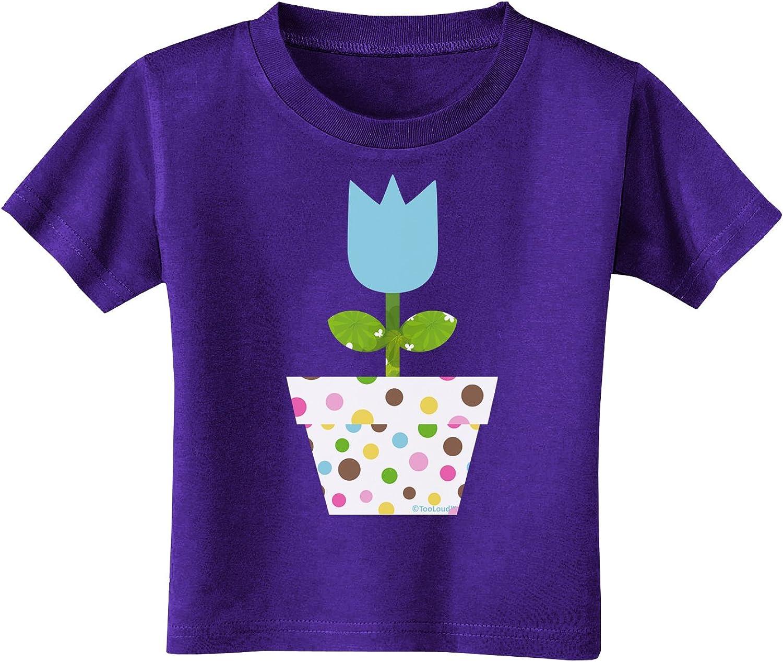 Blue Toddler T-Shirt Dark TooLoud Easter Tulip Design
