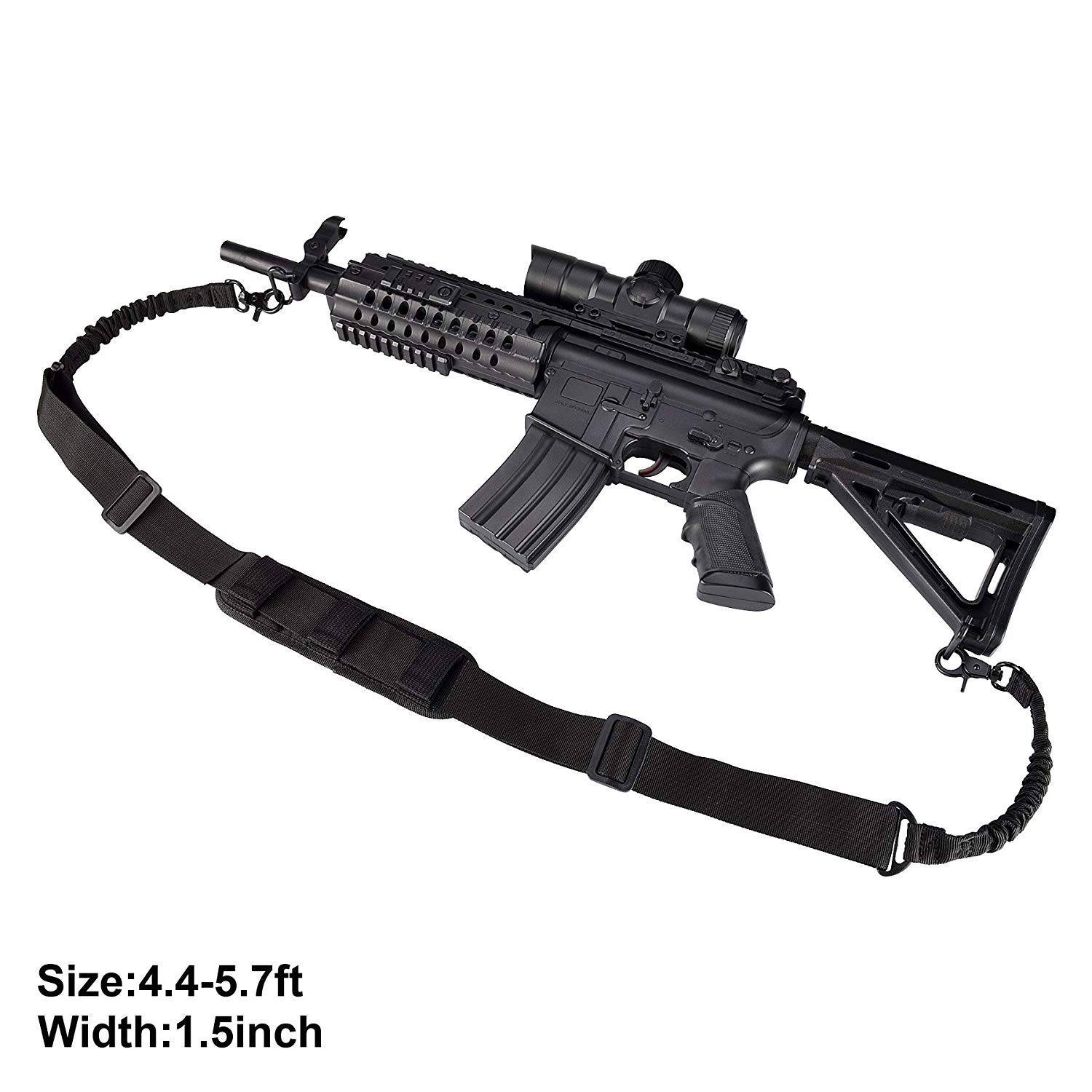 BOOSTEADY 2 Point Rifle Sling Shoulder Strap Trigger Snap with QD Swivel Mount Adjustable