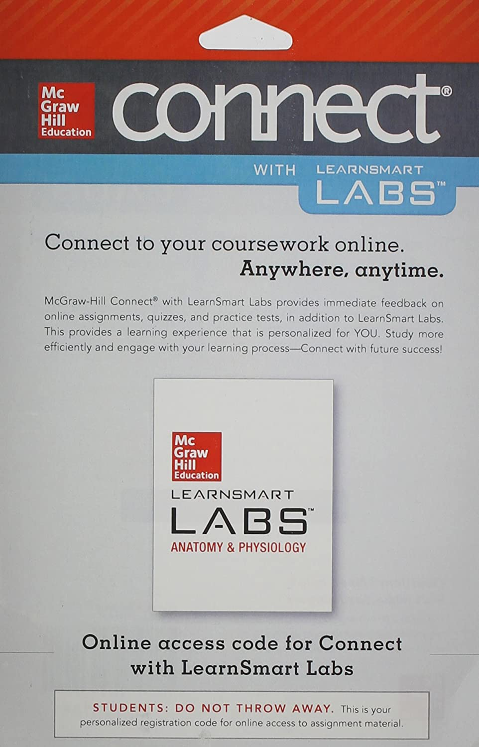 Amazon.com: Connect Access Card for LearnSmart Labs Anatomy and ...