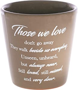Dicksons Those We Love Taupe 3.5 x 3 Terra Cotta Ceramic Garden Flower Pot