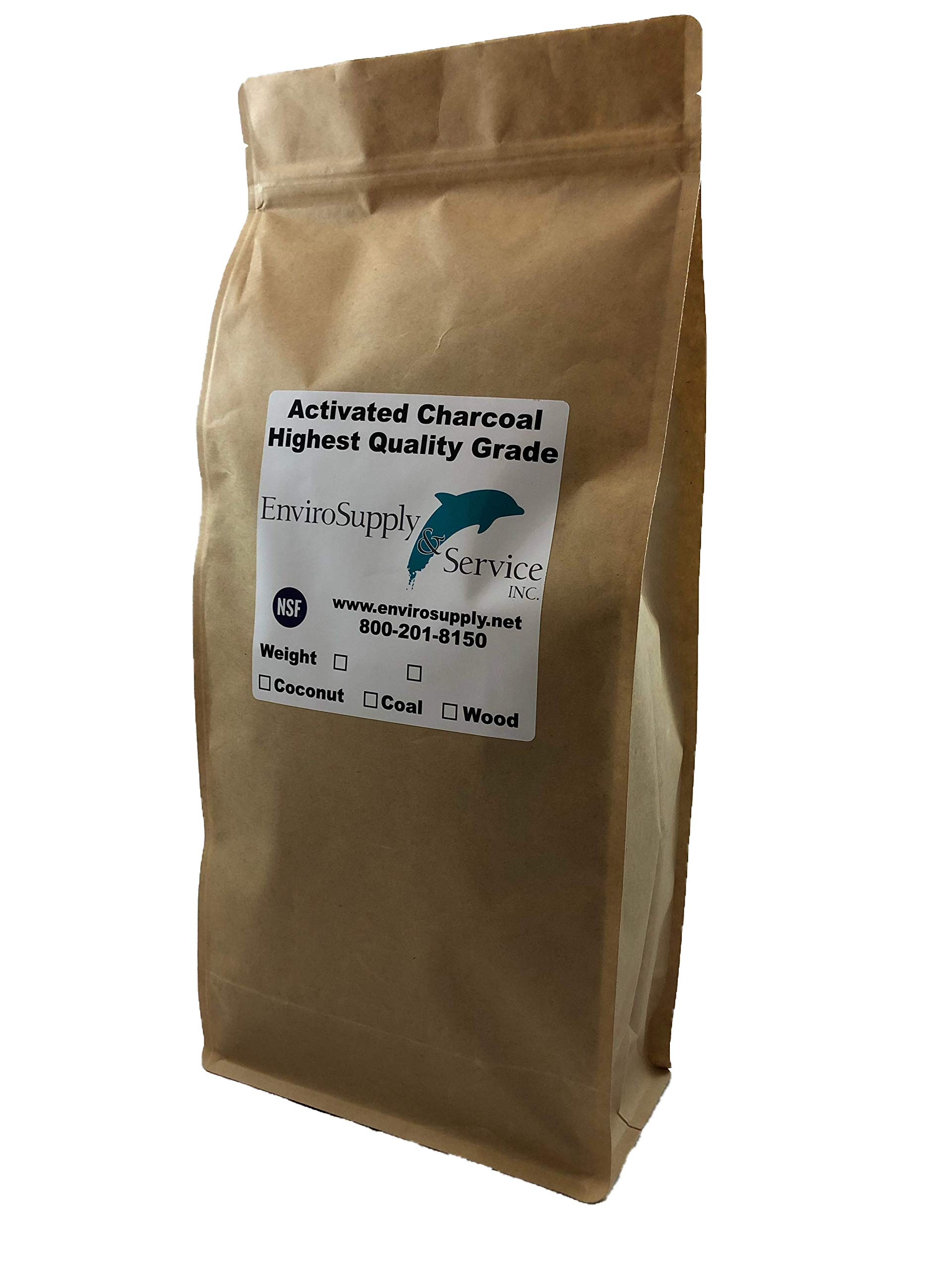 Powdered Hardwood Carbon for Oil Extraction (Decolorization) - Resealable 3 lb. Bag by EnviroSupply