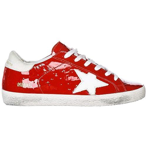 Golden Goose Zapatos Zapatillas de Deporte Mujer en Piel Superstar Rojo: Amazon.es: Zapatos y complementos