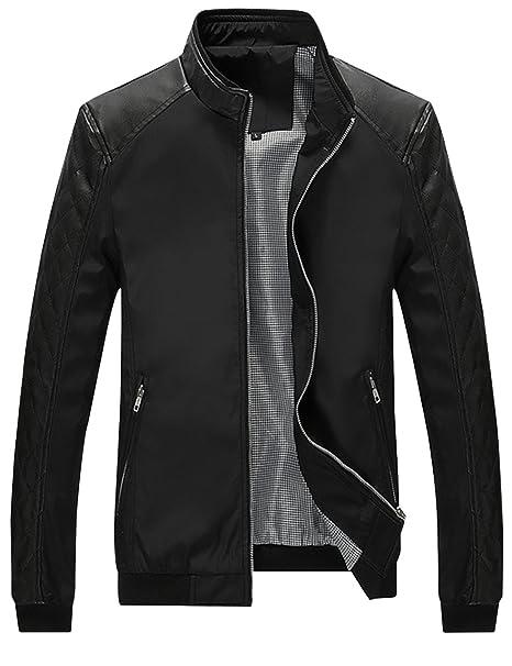 Amazon.com: springrain chaqueta para hombre Casual cuello ...
