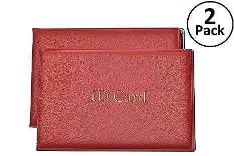 Amazon.com: Tarjetero para tarjetas de identificación con 2 ...