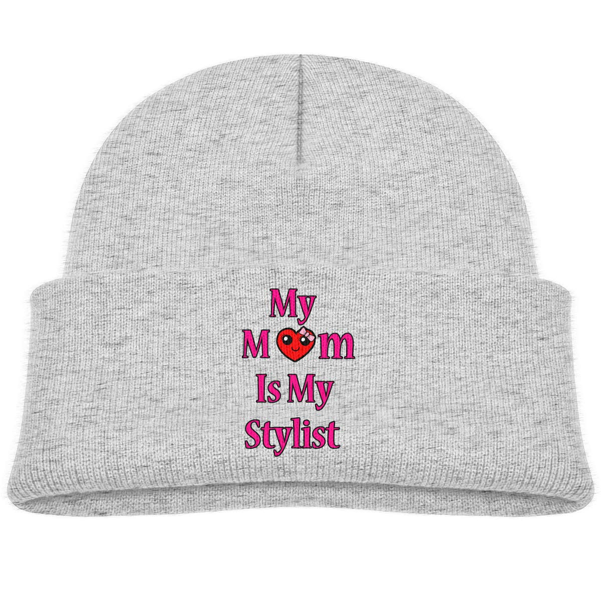 My Mom is My Stylist Knitted Hat Classic Skull Beanies Boys Girls Cuffed Plain Cap