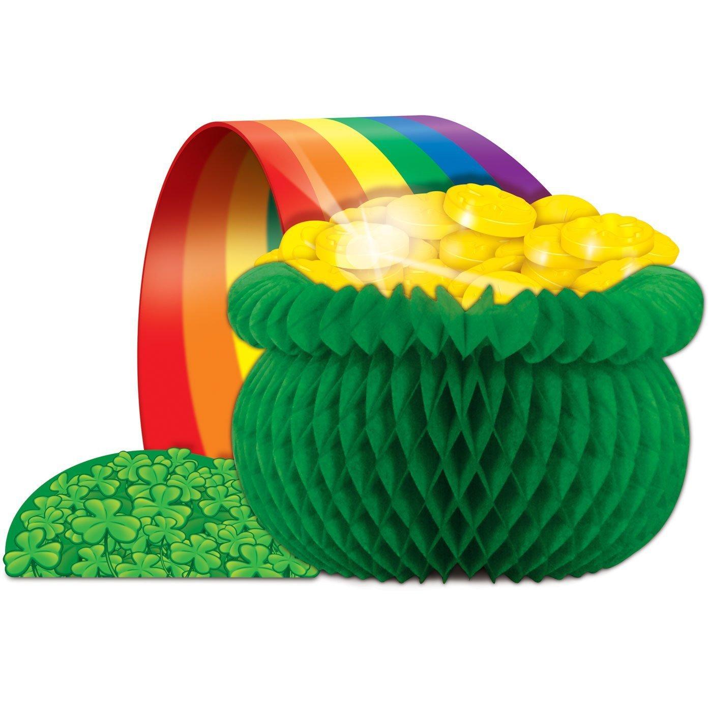 amazon com pot o gold centerpiece party accessory 1 count 1