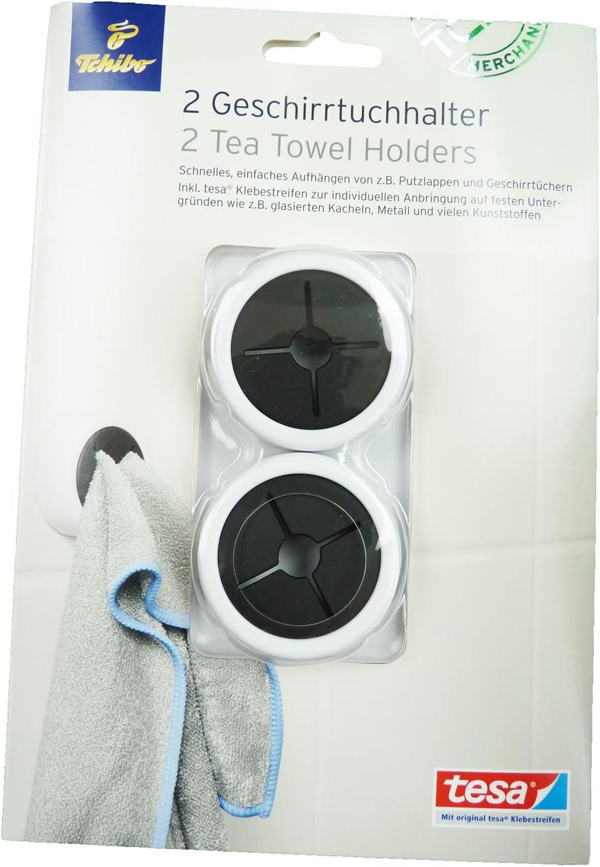 Tchibo TCM 2 x Geschirr Tuchhalter Handtuchhalter Geschirrtuchhalter Aufhängen