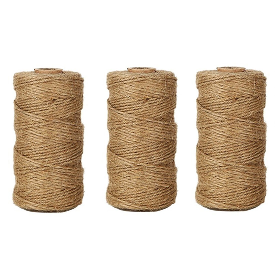 3 PcsX328 Feet Natural Jute Twine Arts Crafts Christmas Gift Twine Packing String