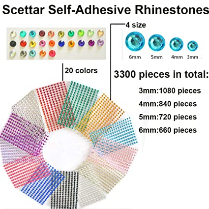 Cortesia Jewel Gems Will Stick on Anything! Ideal for Face Assorted 3300 PCS Crafts /& Embellishments 20 Colors Body Makeup Festival Carnival Self-Adhesive Rhinestones Bulk Pack 4 Sizes
