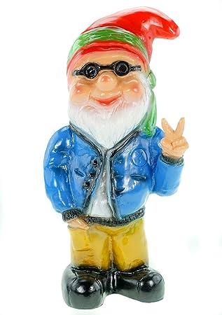 Enano Hippie, la Victoria, 32 cm, los gnomos de jardín, de plástico: Amazon.es: Jardín