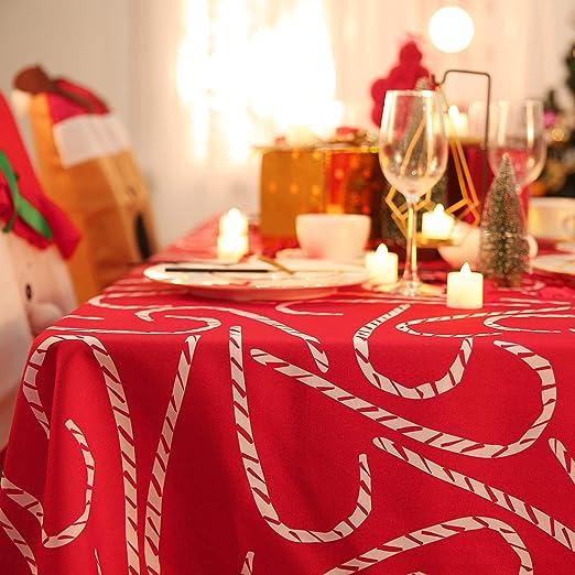 Deconovo Mantel Mesa Rectangular Mantel de Navidad Decoración ...