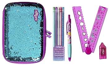 Smiggle - Juego de 5 estuches para lápices (lentejuelas ...