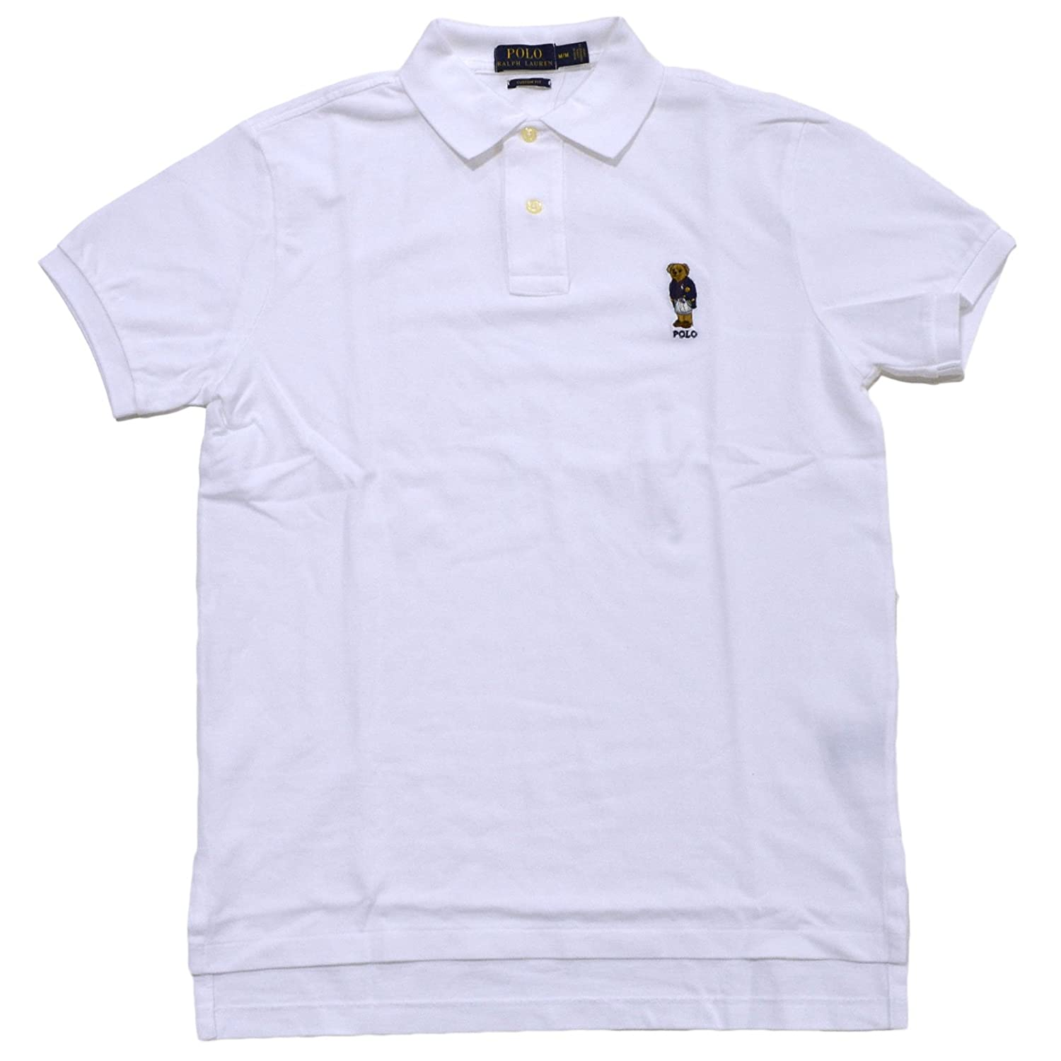 624380c47a800 Polo Ralph Lauren Mens Custom Fit Bear Logo Polo Shirt at Amazon Men s  Clothing store