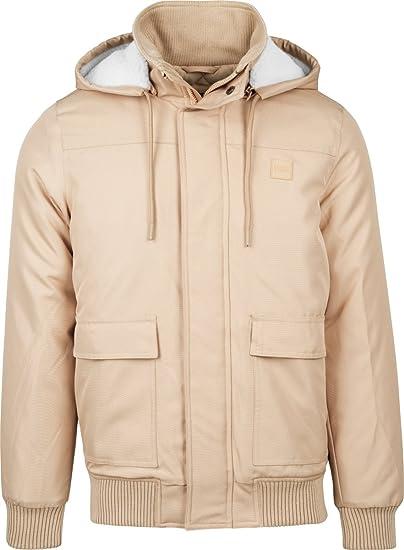b5aa1c8a14a4d6 Urban Classics Herren Herbst-  Winter-Jacke mit Kapuze  Amazon.de ...