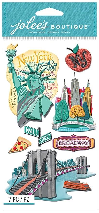 Jolees Boutique Dimensional Stickers-New York  Amazon.it  Casa e cucina 4b0642a91806