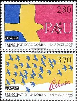 Prophila Collection Andorra - francés Correos Michel.-No..: 477-478 (Completa.edición.) 1995 €uropa (Sellos para los coleccionistas): Amazon.es: Juguetes y juegos