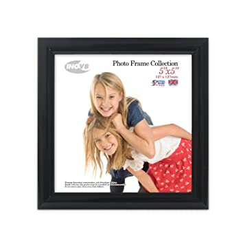 Inov8 British Made Traditional Picture/Photo Frame, Square 5x5-inch ...