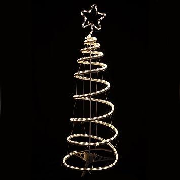 Multi-Action Warm White Spiral Tree Christmas Xmas Rope Light ...