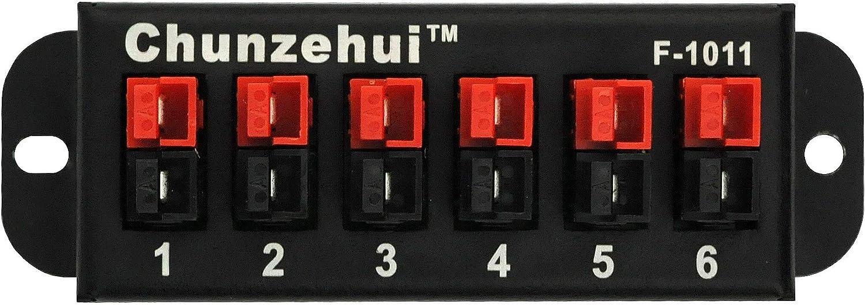 Chunzehui F-1011 6-Position 45A Power Pole Distribution Block Module Connector Power Splitter Distributor Source Strip.