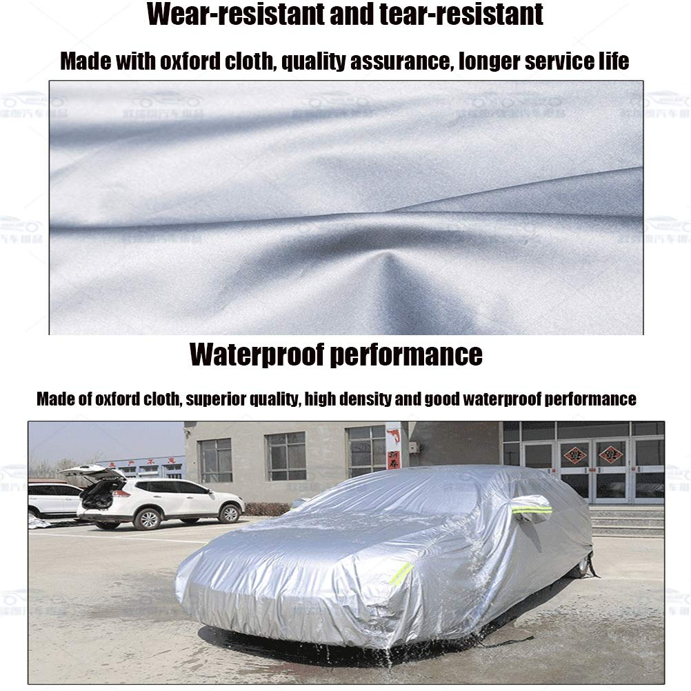 GSHWJS Car Cover Rainproof Windproof Dustproof UV Non-Flammable Outdoor Car Cover Oxford Cloth Four Seasons Universal Car Suit for Audi Models Car Cover Color : Black, Size : Au