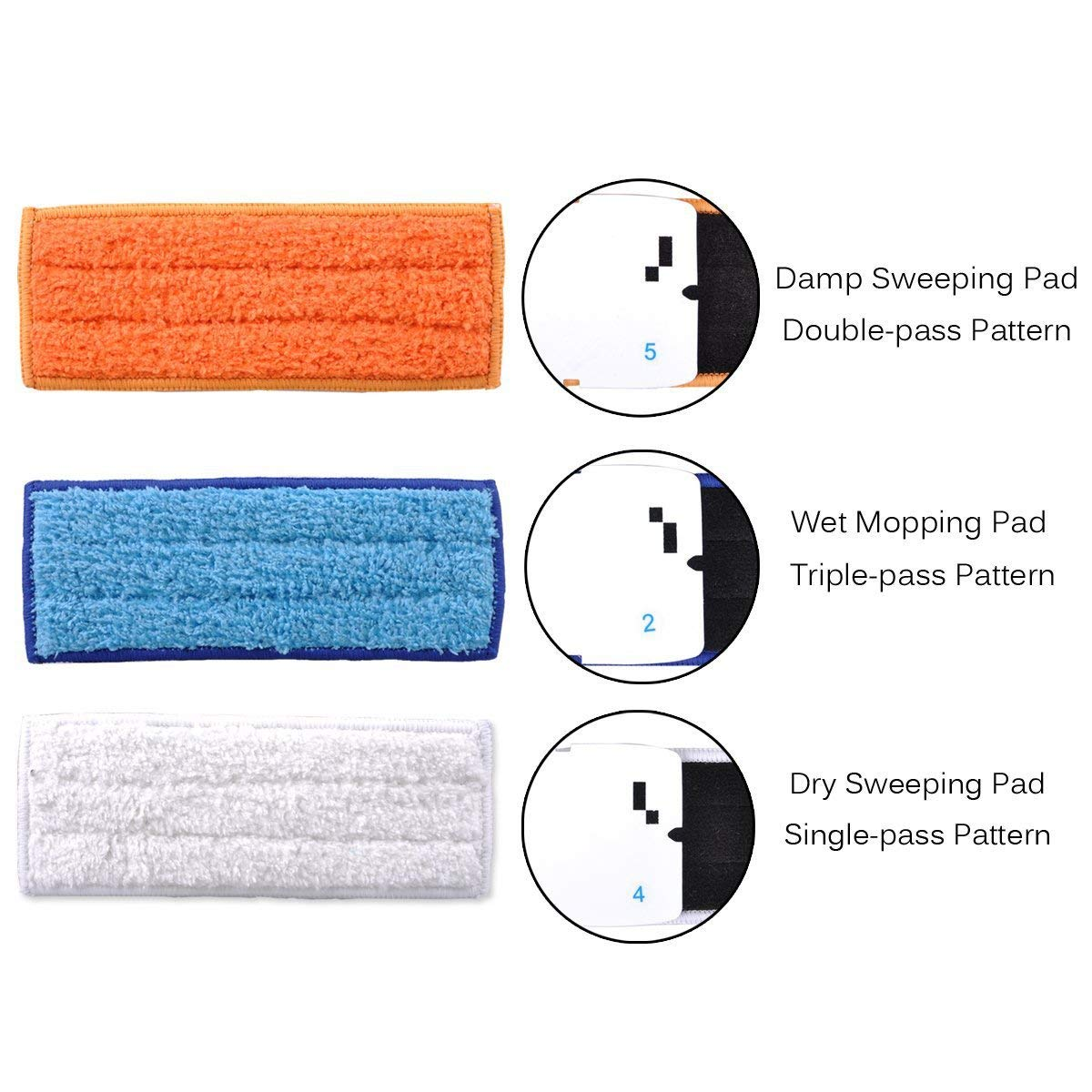 Adouiry Washable Mopping Pads for IRobot Braava Jet 240 Sweeping Pads, Reusable Wet Damp Dry (12 PCS) by Adouiry (Image #2)