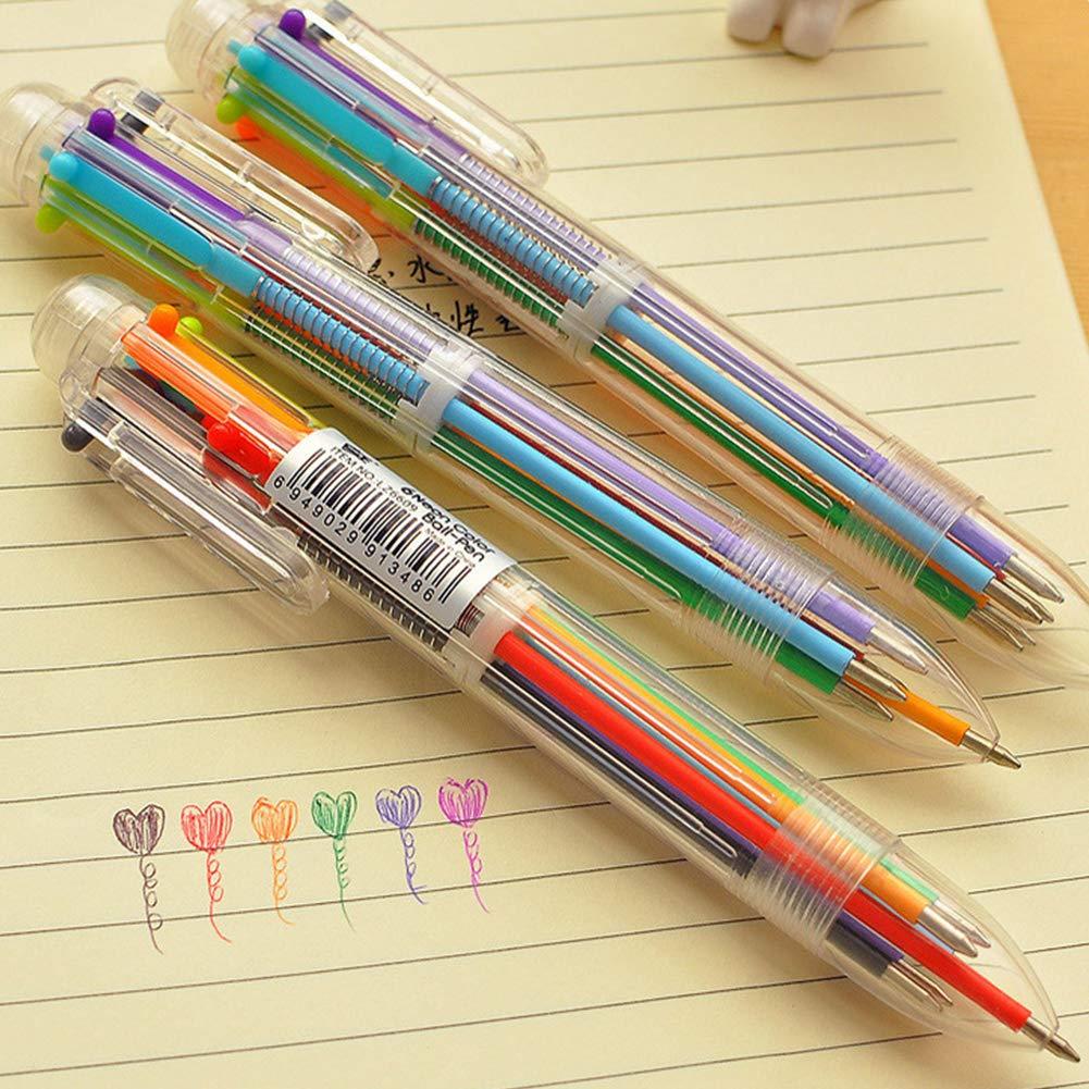 Naisicatar 6-in-1 retrattili Penne a sfera a 6 colori Penna a sfera Multicolor penne per School office supplies 1 Pezzo articoli per ufficio