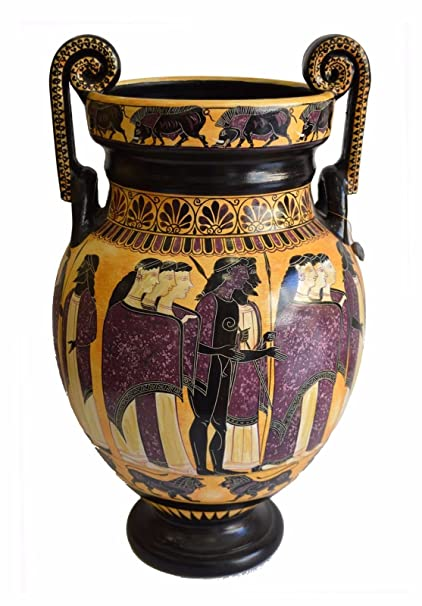 Amazon Ancient Greek Wedding Theme Volute Krater Vase Museum