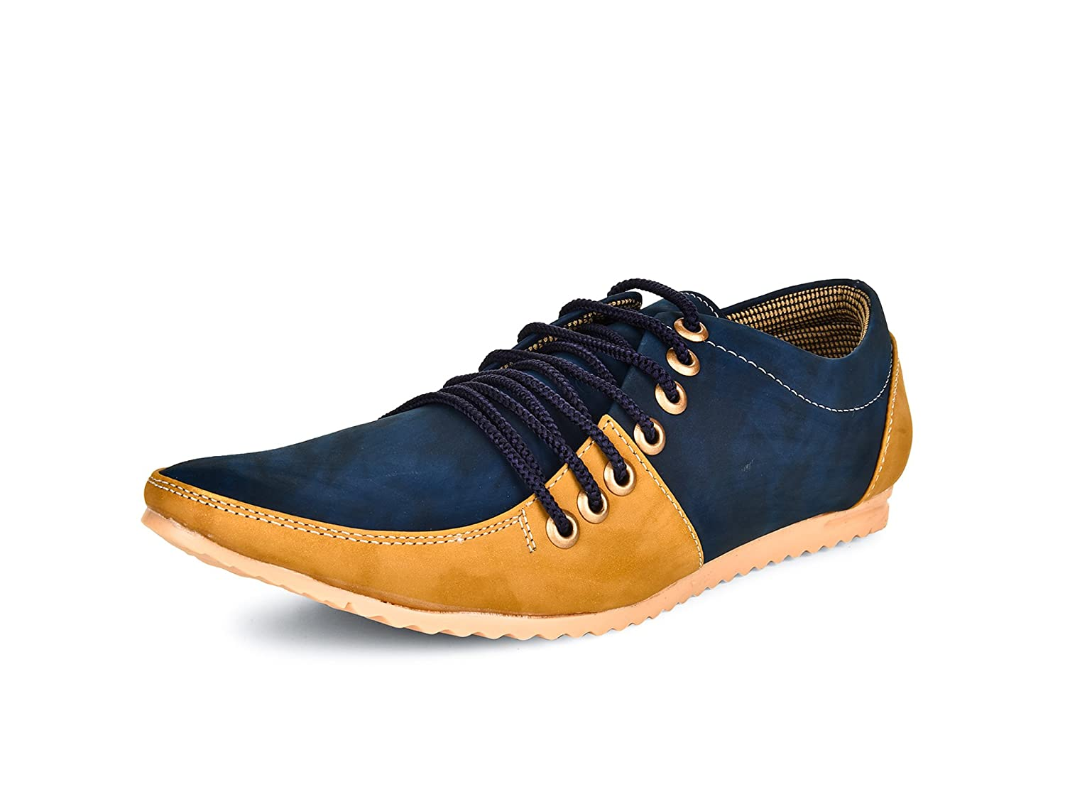 7 Lace Blue Synthetic Casual Shoes