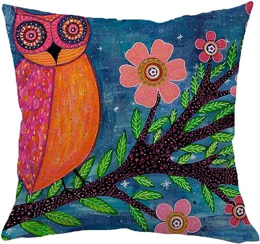 Hangood Cotton Linen Throw Pillow Case