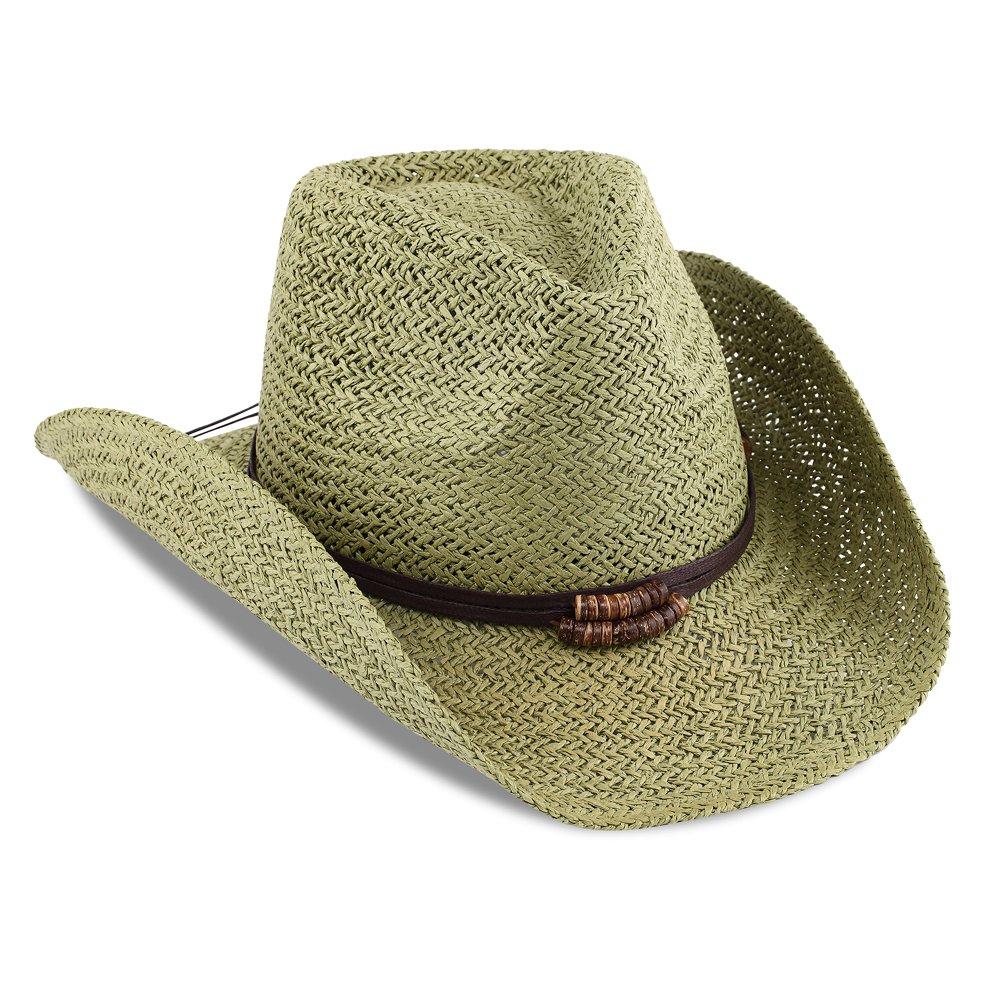 eb71ae44d Access Headwear Men & Women's Summer Cowboy Straw Hat