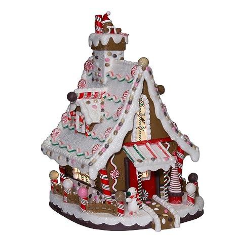 Christmas Gingerbread House.Kurt Adler 12 Inch Lighted Christmas Gingerbread House