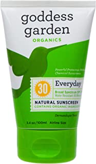 product image for Goddess Garden Organics SPF 30 Everyday Natural Mineral Sunscreen Lotion for Sensitive Skin (2 pack of 3.4 oz. Tube) Reef Safe, Water Resistant, Vegan, Leaping Bunny Certified Cruelty-Free, Non-Nano