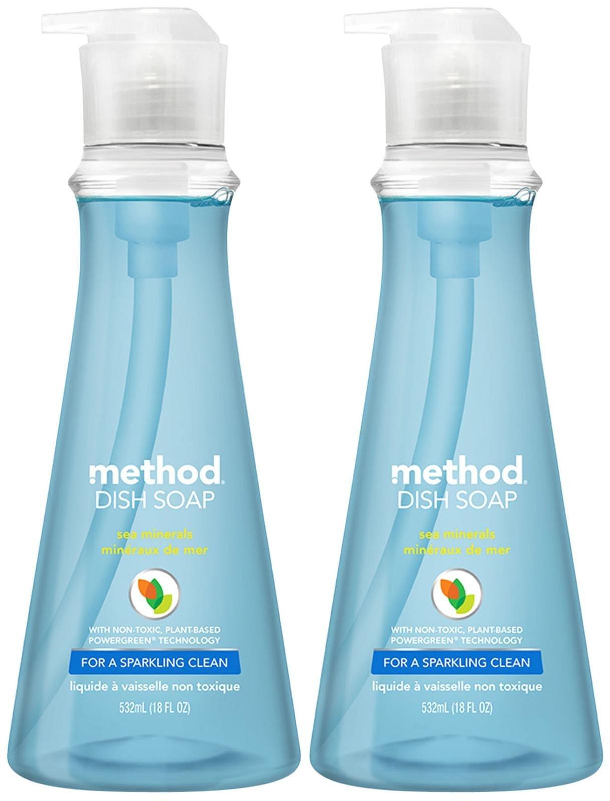 Method Dish Soap Pump – 18 oz – Sea Minerals – 2 pk